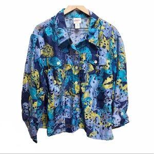 Ruby Rd Favorites lightweight button down jacket